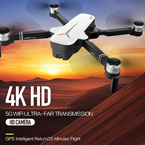 Truda 8811 RC Drone with Camera 4K Drone 5G WiFi Brushless RC Quadcopter GPS Optical Flow Positioning Way-Point Flight Palm Control MV Production Gesture Photo Video Follow Me 3 Batteries Portable