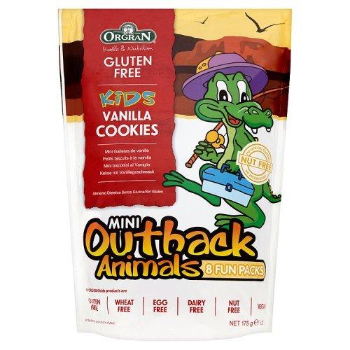 Orgran Gluten Free Outback Animals Vanilla Biscuit Multipack 175g