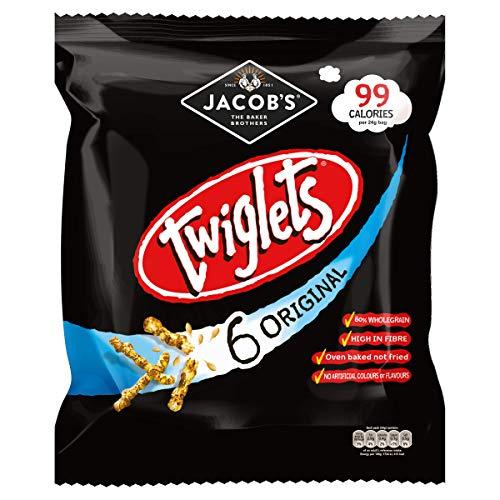 Jacobs Twiglets Snacks 6-PACK (6X24g) - britischer Party-Snack