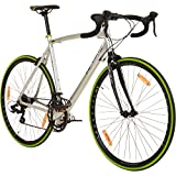 Galano 700C 28 Zoll Rennrad Vuelta Sti 4 Rahmengrößen 2 Farben, Rahmengrösse:53 cm, Farbe:grau/grün