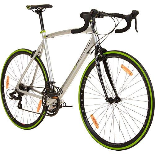 Galano 700C 28 Zoll Rennrad Vuelta Sti 4 Rahmengrößen 2 Farben, Rahmengrösse:59 cm, Farbe:grau/grün