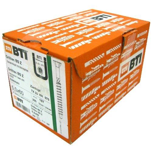 BTI Drilltec BS Z 5,0 x 50 Edelstahlschrauben 300 Stk Terrassenschraube