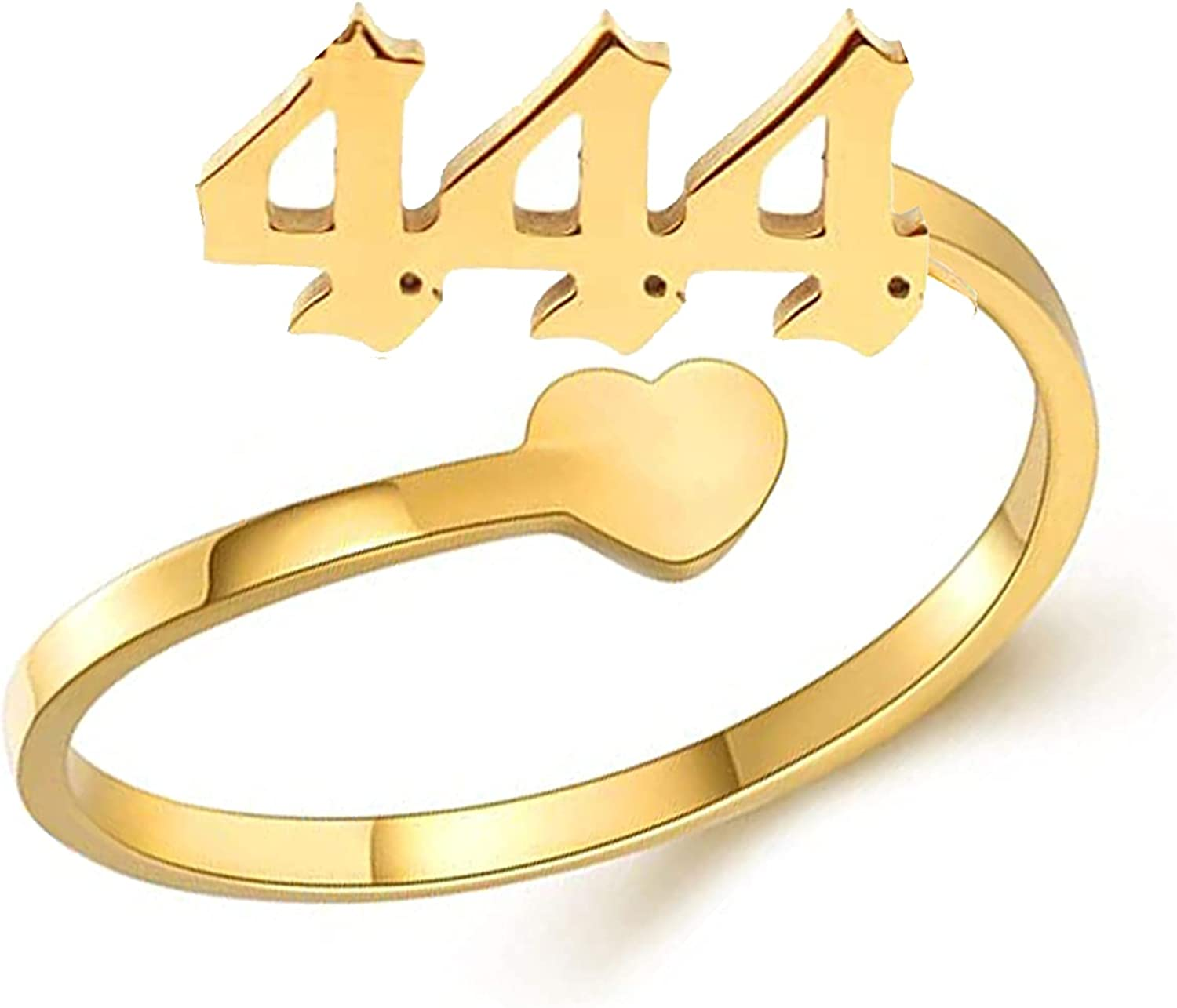 BABIYA Angel Rings for Women, Gold Plated Dainty 111 222 333 444 555 666 777 888 999 Numerology Rings for Women…