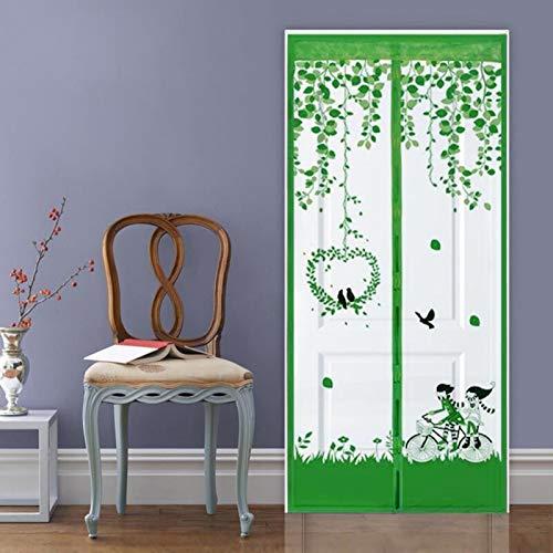 Cortinas magnéticas para el hogar de verano mosquiteras en las puertas y ventanas de la red cortinas antimosquitos para mosquitos y cortinas de malla de cifrado de velcro A5 W120xH210