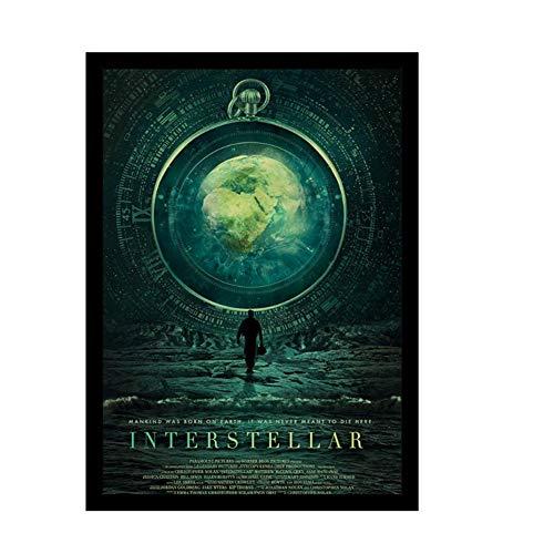 A&D Classic Movie Interstellar Poster Nolan McConaughey Retro Poster und Drucke Papier Home Room Decor Film Wandaufkleber -60x80cm No Frame