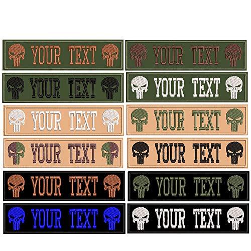 Parches personalizables para nombre de personalidad bordada, 2 unidades de etiquetas personalizadas con el logotipo del ejército para múltiples bolsas de ropa.