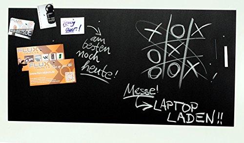Große Pinnwand/Pinwand/Magnet-Tafel in 100 x 50 cm, mit 1x Kreide und 20 Stift - Magneten: Magnetpinnwand mit Tafelkreide-Oberfläche
