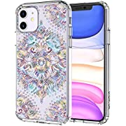 MOSNOVO Ombre Mandala Pattern Designed for iPhone 11 Case,Clear Case with Design Girls Women,TPU Bumper with Protective Hard Case Cover