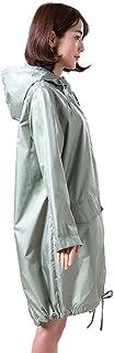 ZEMIN ポンチョ レインウェア レインコート ポンチョ ウインドブレーカー 防水 カバー 女性 余暇 長いです 品質 ポリエステル、 6色、 6サイズあり (色 : Green, サイズ さいず : L l)