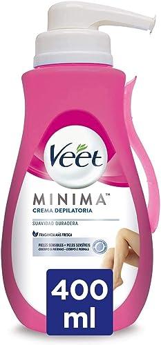 Veet Crema Depilatoria Corporal para Mujer, Con Dosificador, Piel Sensible, 400 ml: Amazon.es: Salud y cuidado personal