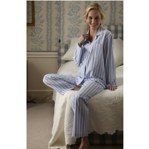 Victoria Classic Cotton Pajamas by The Irish Linen Store