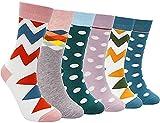 Extsud calcetines de mujer, 6 pares calcetines de algodón para chica y mujer, talla 35 a 42