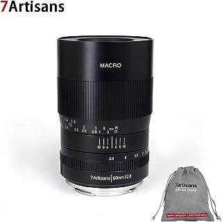 7artisans - Lente Fija de Gran Angular para cámaras Sony Emount A7 A7II A7R A7RII A7S A7SII A6500 A6300 A6000 A5100 A5000 EX-3 NEX-3N NEX-3R NEX-C3 NEX-F3K NEX-5 NEX-5N (60 mm) Color Negro