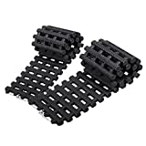 Mr.Go Auto Emergency Traction Mats, Portable Car Vehicle Tyre Grip Recovery Tracks Traction Aid Mat Pad Sand Ladder - Unstuck Off-Road Mud, Snow, Ice, and Sand - 2 Pack - Black
