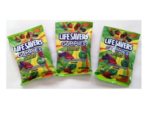 Lifesavers 'Sours' Gummies (7 oz Bags) 3 Pack