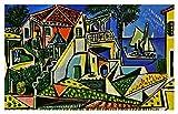 JH Lacrocon Pinturas a Mano Paisaje Mediterráneo 1953 de Pablo...