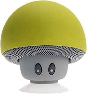Inwa 2019 New Fashionable Cartoon Mushroom Hairstyle Wireless Bluetooth Speakers Mini Hands Free Cute Christmas Gift High Quality Brand - Yellow