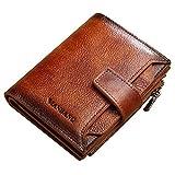 Vintage Wallet for Men-Genuine Leather RFID Blocking Bifold Stylish Wallet (brown)
