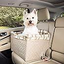 PetSafe Solvit Deluxe Haustier Autositz, Sicher, Komfortable, für Hunde und Katzen, klares braun