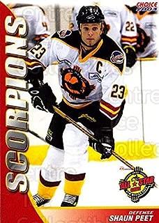 (CI) Shaun Peet Hockey Card 2003-04 New Mexico Scorpions 17 Shaun Peet