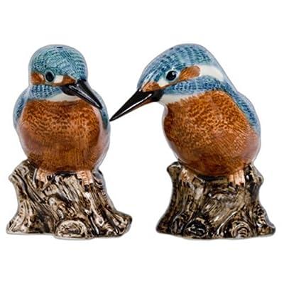 Quail Ceramics - Kingfisher Salt And Pepper Pots by Quail Ceramics