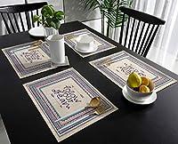 ランチョンマット 部落 装飾 風格 手描き プレースマット お食事マット 食卓 飾り 断熱 テーブルマット おしゃれ 滑り止め 北欧 丸洗い 雰囲気アップ 家庭レストラン用 6枚
