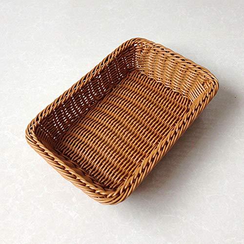 Cesta de Pruebas panera,Cesta de Mimbre, Cesta de Pan de frutas-45 * 35 * 9 cm,Prueba para Masa fermentada Cesta