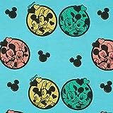 Jersey Stoff Disney Micky, Minnie Maus, türkis (50cm x