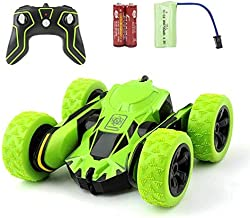 DoDoMagxanadu RC Car Remote Control Stunt Car, Monster Truck Flipping Vehicle 360 Degree Flip Overs Double Sided Rotating Tumbling 2.4GHz High Speed Remote Control Racing Car Toys for Kids (Green)