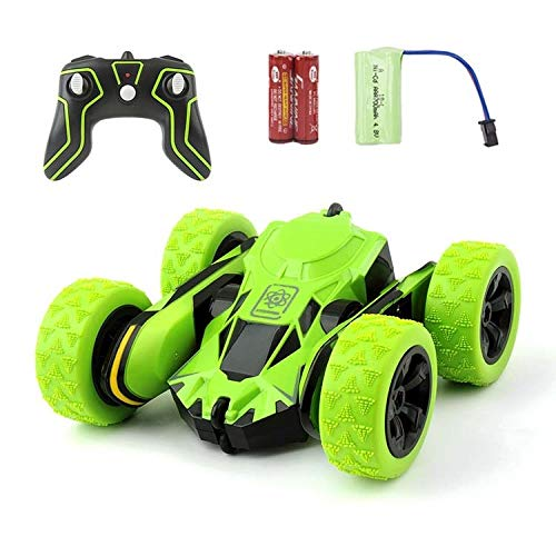 RC Car Remote Control Stunt Car, Monster Truck Flipping Vehicle 360 Degree Flip Overs Double Sided Rotating Tumbling 2.4GHz High Speed Remote Control Racing Car Toys for Kids (Green)