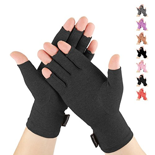 Arthritis Compression Gloves Fitness Gloves Relieve Pain from Rheumatoid, RSI,Carpal Tunnel, Hand Gloves Fingerless for Computer Typing and Dailywork, Support for Hands