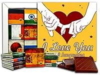 DA CHOCOLATE キャンディスーベニア 私は9つの言語であなたを愛しています 13x13cm 1箱 (手)