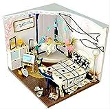tytlmodel Muebles Madera La Casa Muñecas Muebles,Modelo Ensamblaje En Miniatura La Casa Bricolaje,Rompecabezas Casa Muñecas Minúsculo Juguete Educativo para Niños Regalo Navidad,18.5 * 16 * 15 Cm
