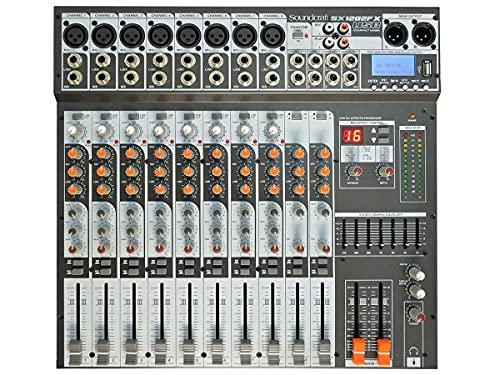 Mesa de Som 12 Canais USB SX1202FX