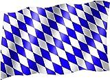 Flagge/Fahne BAYERN (kleine Rauten blau weiß, Oktoberfest) Staatsflagge/Landesflagge/Hissflagge mit Ösen 150x90 cm, sehr gute Qualität
