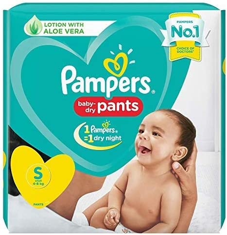 Pampers New Diaper Pants, Small, 20 Count
