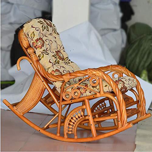 Coussin De Chaise pour Transat de Jardin Relax Épais Pad Outdoor Fauteuil de Salon Coussins Sangle antidérapante (Taille: 125X50CM, sans Chaise)