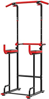 $85 » N/P Dip Stands Power Tower Dip Station Adjustable Pull Up Bar Exercise Home Gym Strength Training Workout Multi Function E...