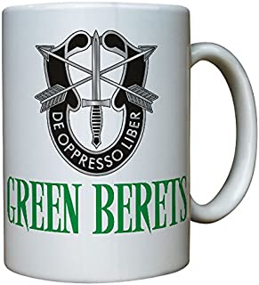 Green Berets Coat of Arms US Army Military America De oppresso liber United States Special Forces Command Airbone badge - Coffee Cup Mug