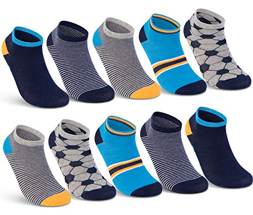 10 Paar Kinder Sneaker Socken Jungen und Mädchen Baumwolle Kindersocken - 56550 (10 Paar   Jungen 3, 31-34)