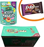 ROWNTREE'S Pasteles de postre vegano amigable con dulces bolsa para compartir 10 x 139 g, caja completa con 1 barra de pastel de cumpleaños KITKAT + 1 barra de mosqueteros