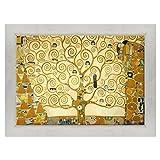 Quadro su Tela Canvas INTELAIATO - con Cornice - L'Albero della Vita - Gustav Klimt - Cult...