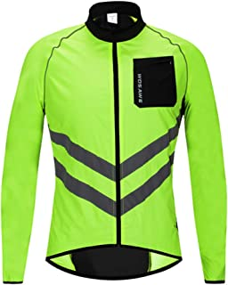 Oeyal Reflective Vests High Visibility Safety Jacket Zipper Front with Reflective Strips, Windproof Running Cycling Vest