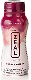 Zeal for Life - Wellness Product - Wild Berry - Case of 24 Individual Serving Bottles
