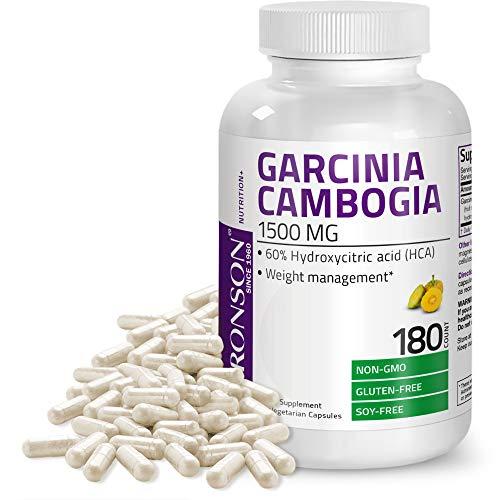Garcinia Cambogia Extract Premium Weight Management Supplement - Standardized Hydroxycitric Acid (HCA) Vegetarian Capsules - Natural Appetite Suppressant - Non GMO, 180 Count