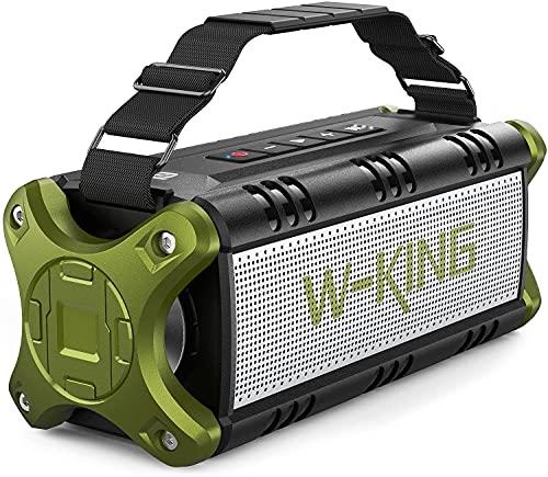 Bluetooth Speaker, W-KING 50W Super Loud Portable Bluetooth Speaker Waterproof IPX6 with 8000mAh...