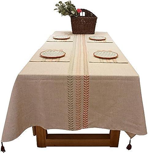 ASL Esstisch Tischdecke, Retro Stückerei Tischdecke Restaurant Café Wohnzimmer Tischdecke Abdeckung Tuch Dekoration Tischdecke L e 100-230cm w en