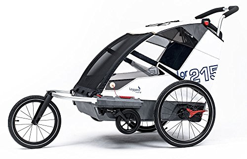 Leggero Vento R Kinderanhänger, Farbe:sail, Ausstattung:Active (Jogger- & Buggyset)