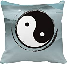 DIYthinker China Taichi Eight Diagram Mountain Square Throw Pillow Insert Cushion Cover Home Sofa Decor Gift 40 X 40Cm (Th...