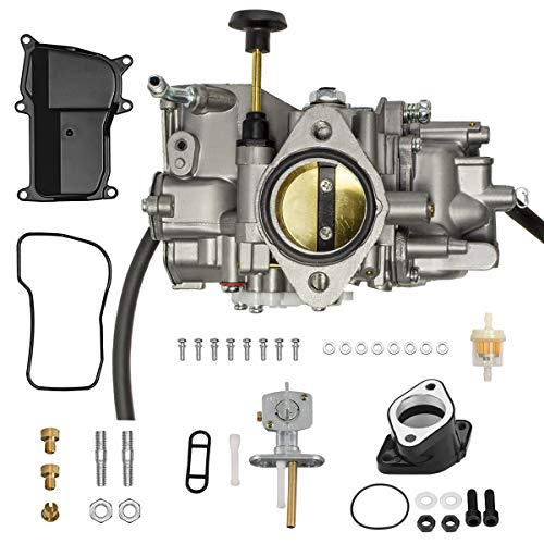 YTLS YFM350 Carburetor for Yamaha 1987-1998 Big Bear 350 1987-2004 Warrior 350 1996-1998 Kodiak 400 1987-1990 1992-1995 Moto-4 350 YFM 350 ATV Carb with Intake Manifold Fuel Valve Switch
